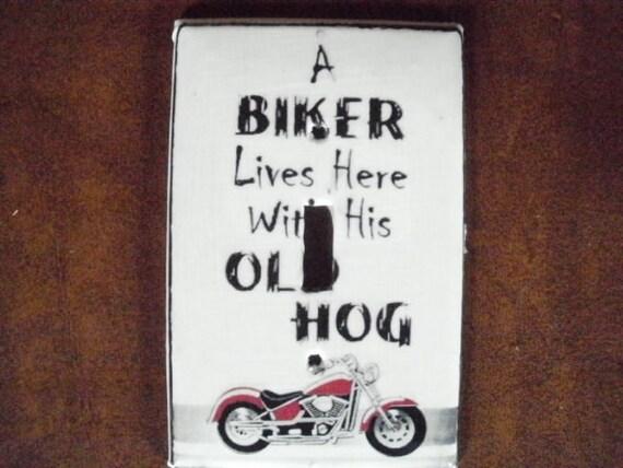 Biker Decorative Switchplate Cover