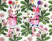 Bunny with Mask Paper Doll, Unassembled