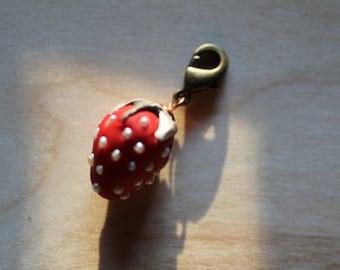 Woodland Strawberry Charm for Necklace or Bracelet