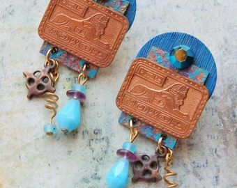 Egyptian Blue earrings