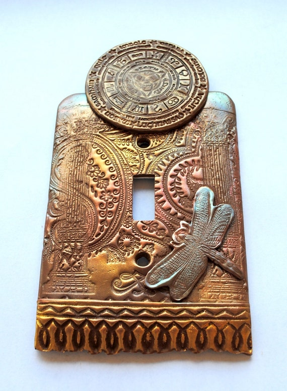 Pagan Calendar With Dragonfly One Of A Kind Light Switch