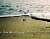 8x10 Matted Blue Ocean Tide Rolling In at Stinson Beach, California
