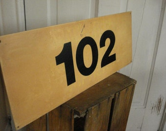 Vintage Bus Sign - 102 - House Number Graphics