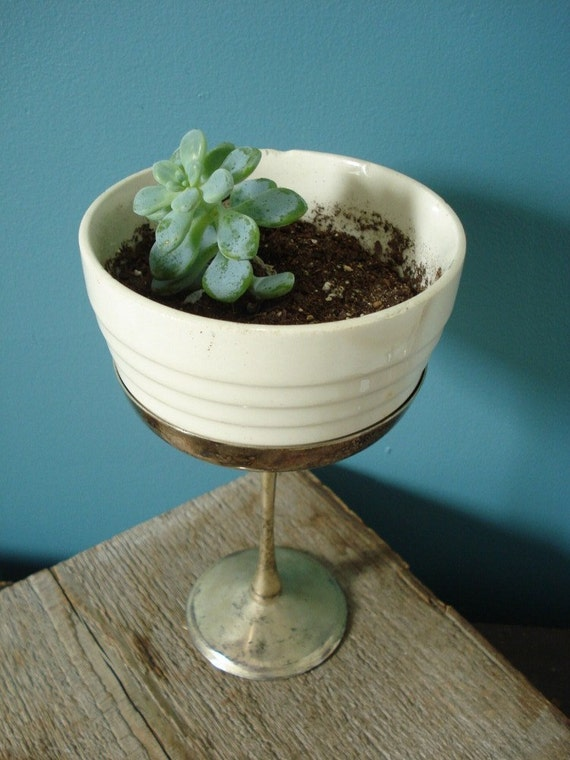 Silverplate Goblet or Plant Stand
