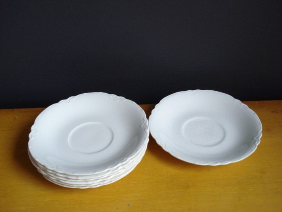 Perfect White Saucers - Vintage Johnson Bros. China - Made in England