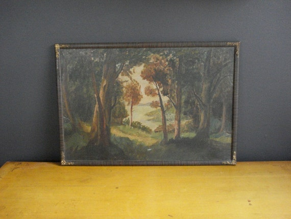 Once Upon a Woods - Vintage Framed Painting