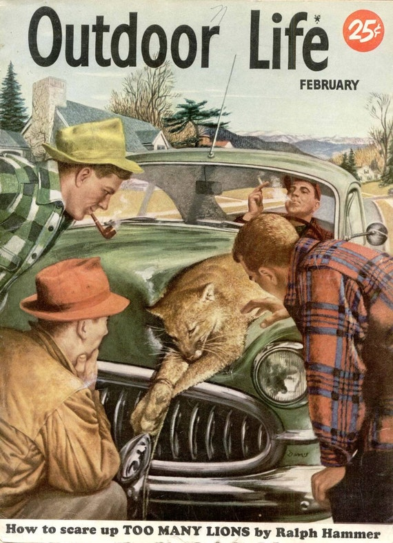 OUTDOOR LIFE Magazine February 1952 on Life Outdoor id=17004