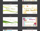 Custom Personalized Decorative Bookplates- Book Labels - 8