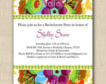 "Bridal Shower Invitation ""Garden Party"" (12)"