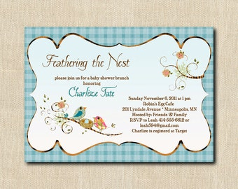Love Birds Nesting Shower Invitation - 12