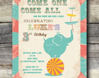 Vintage Circus Party Invitation -12