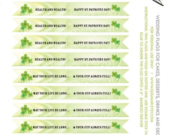 St. Patrick's Day Flags - Dessert, Drink, Cheer Flags - DIY PRINTABLE