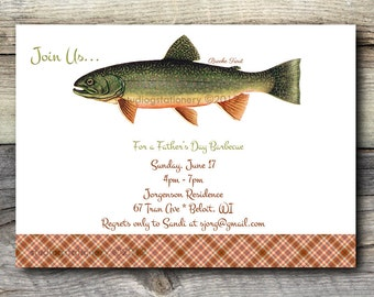 Fathers Day - Birthday Barbecue / Brunch Brooke Trout Invitation