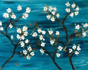 Cherry Blossoms - Original Painting Framed