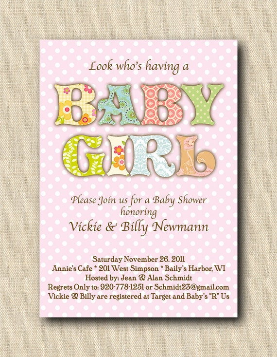 baby girl shower invitations diy printable