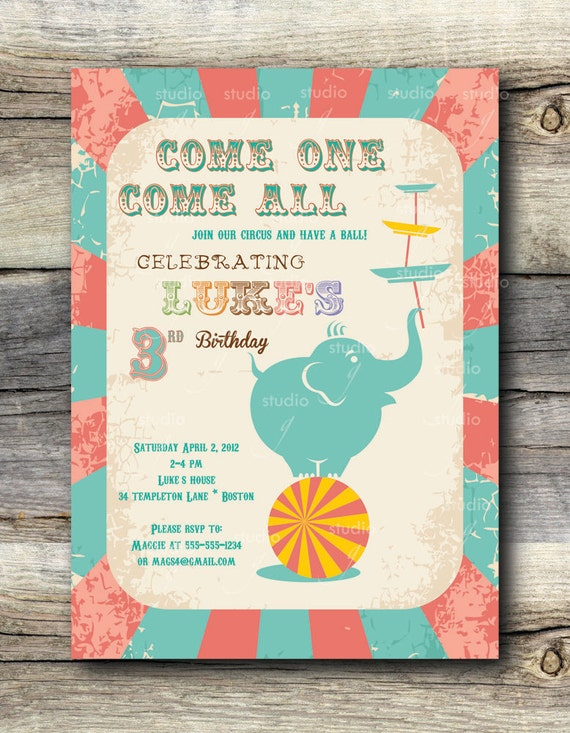 Vintage Circus Invitations 73