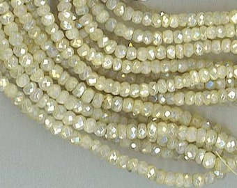 "15"" Strand 3.5mm Faceted MYSTIC CORUNDUM Rondelle BEADS"