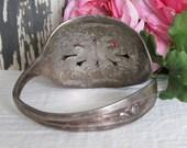 Silver Tulip  Pierced Spoon Bracelet