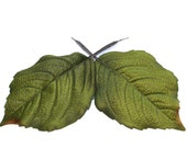 30 Jumbo Hydrangea Leaves - Artificial Leaves, Silk Leaves