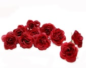10 Red Artificial Silk Baby Roses - Artificial Flowers