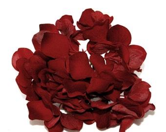 Red Velvet Hydrangea Head - Artificial Flowers, Silk Flower Petals