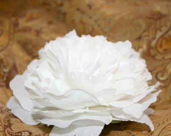 1  Jumbo White Peony - Artificial Silk Flower - PRE-ORDER