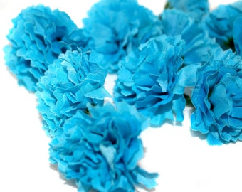 100 Turquoise Carnations - Artificial Flowers - PRE-ORDER