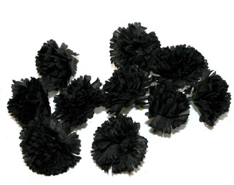 100  Small Black Carnations - Artificial Flowers - PRE-ORDER