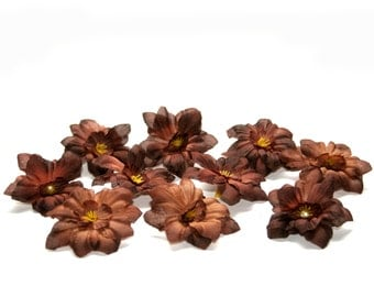 10 Bargain Brown Delphinium - Budget Silk Flowers