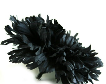 1 Large Black Carnation - Artificial Flowers