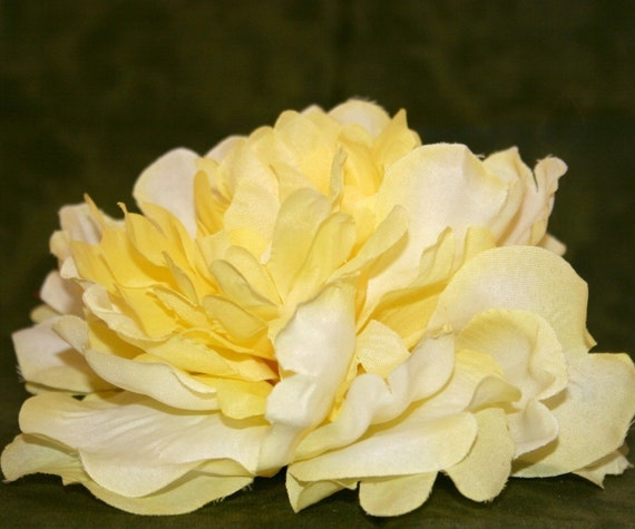 1  Large Yellow Silk Peony - Artificial Flowers, Silk Flowers - PRE-ORDER
