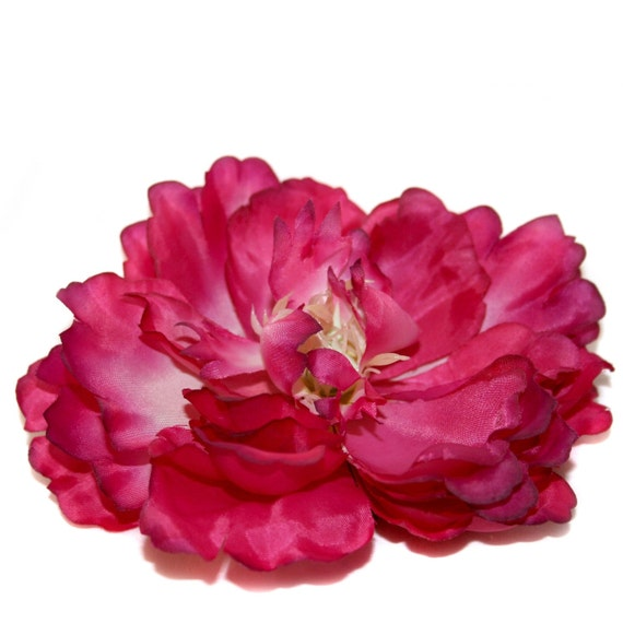 1  Jumbo Fuchsia Silk Peony - Artificial Flower