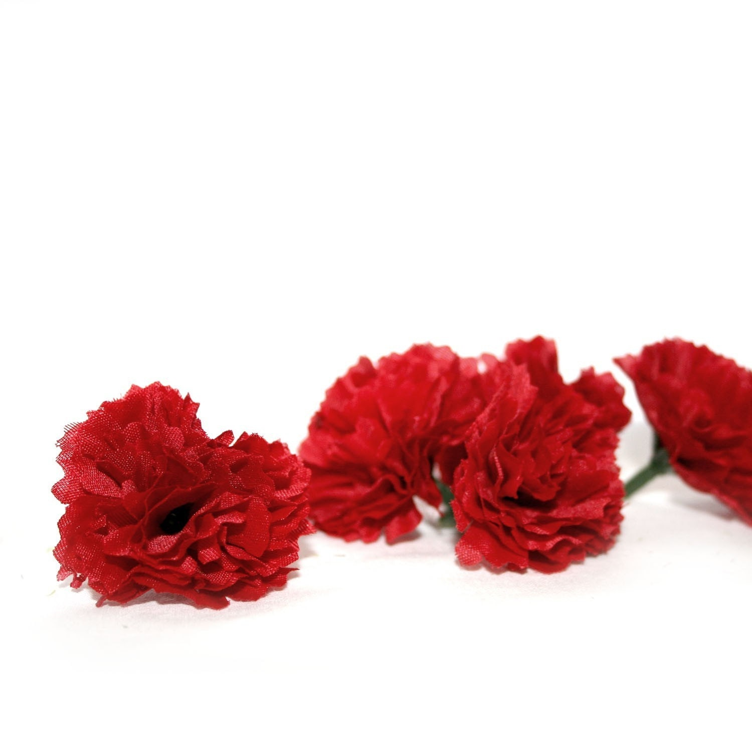 10 Valentine Red Baby Carnations Artificial Flowers