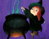 Happy Halloween Cards - Spooky Witch - Set of 5 Illustrated Halloween Greeting Cards