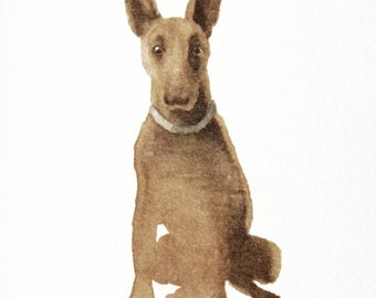 English Bull Terrier Mix Rescue Dog - Set of 5 Blank Note Cards