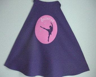Child's Ballerina Cape  Dancer Cape  Ballerina Dancer  Girls Cape  Ballerina Cape for Girls