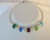 Birthstone Bracelet, Mother's Day Gift, Swarovski Crystal, Mother's Birthstone Bracelet, Birthstone Jewelry