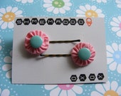 Turquoise Candy Hairpins