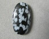 Snowflake Obsidian Black White gemstone cabochon