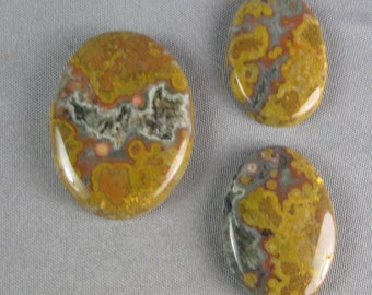 Ocean Jasper Cabochon 3 pc set