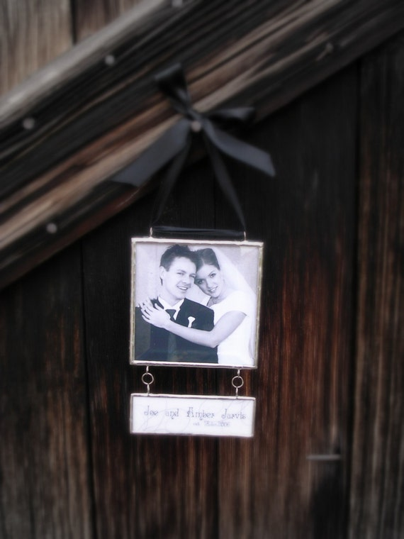 Keepsake Ornament Personalized with Your Favorite Photos and a Customizable Dangling Pendant