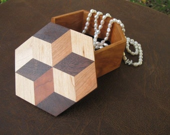 Optical Illusion Jewelry Box Great Gift