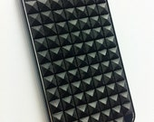 Metallic Black Stud Case for iPhone 4 or 4s