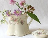 Vintage Avona Sugar Bowl, Shabby Antique Thistle, by Taylor Smith and Taylor