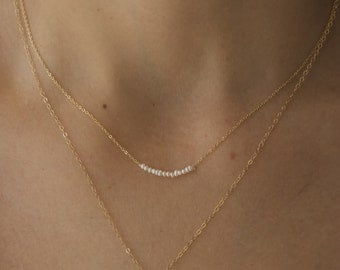 Seed Pearl Strand on a dainty chain