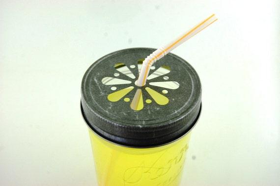 Daisy Cut Out Mason Jar Lids Vintage Wedding Party Supplies Lemonade