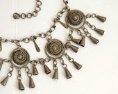 Exquisite vintage/antique silver necklace from India