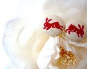 Bunny Button Earrings