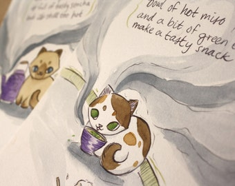 Kitten Haiku- SALE Two-Illustration Set