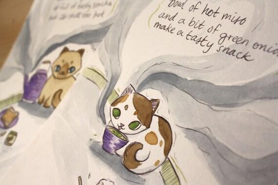 Kitten Haiku- SALE Two-Illustration Set